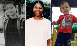 Case studies … from left: Rubel Ahmed, Joy Gardner, Alan Kurdi.
