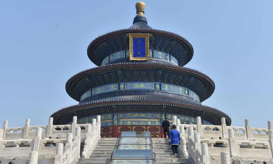 Visitors return to the Temple of Heaven in Beijing after it reopened