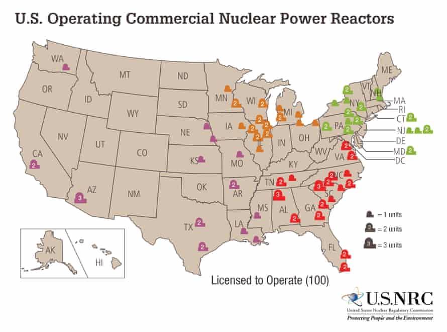 US nuclear reactors.