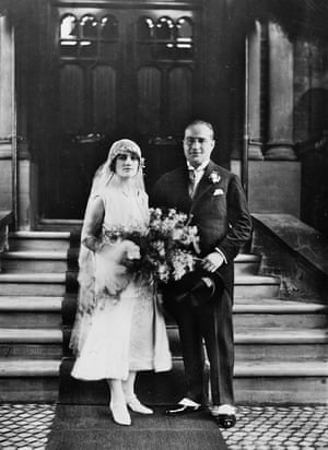 The couple's wedding day in 1925