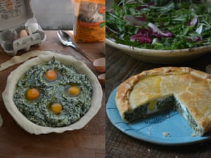 A spinach, herb and ricotta tart – or torta pasqualina