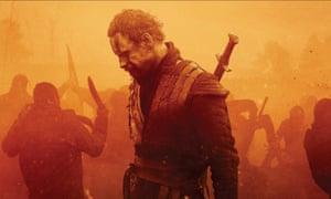Michael Fassbender in Macbeth.