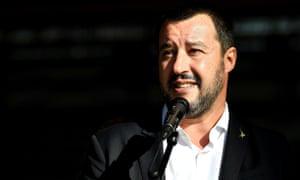 Italy's far-right interior minister Matteo Salvini.