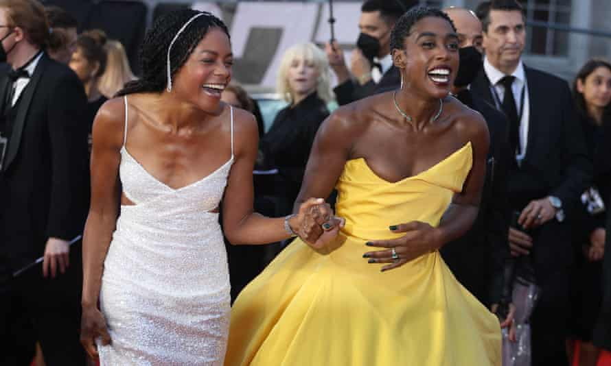 Naomie Harris and Lashana Lynch at the No Time to Die world premiere.