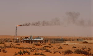 An oil installation owned by Saudi Aramco. The Financial Conduct Authority recently altered regulations to allow a potential listing of the oil giant on the London Stock Exchange.