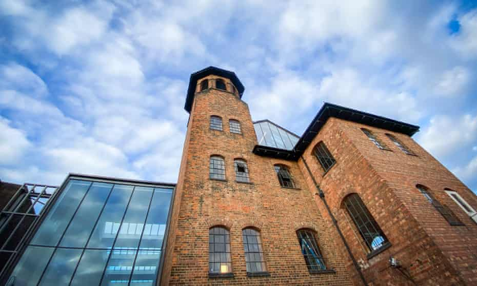Exterior view of the Museum of Making's Silk Mill, Derby, UK.