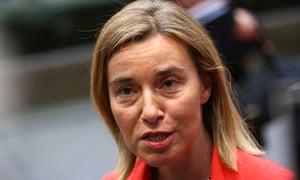 Federica Mogherini, the EU foreign policy chief