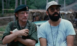 Dennis Hopper and Francis Ford Coppola on the set of Apocalypse Now.