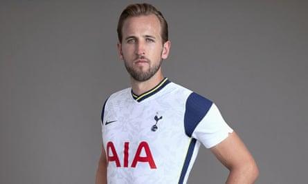Harry Kane models Tottenham's new kit for 2020-21 season