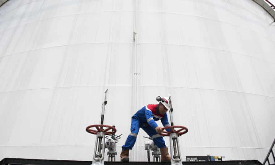 Turning off the taps: a worker at state-owned oil and gas company Pertamina in Jakarta, Indonesia.
