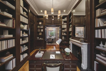 The study linking through to the dining room.