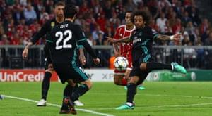 Marcelo scores the equaliser.