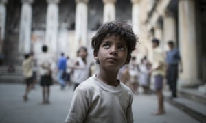 Sunny Pawar in the film Lion, which tells the story of an Indian child who is adopted by a loving family, but most of the millions of unregistered children aren't so lucky.