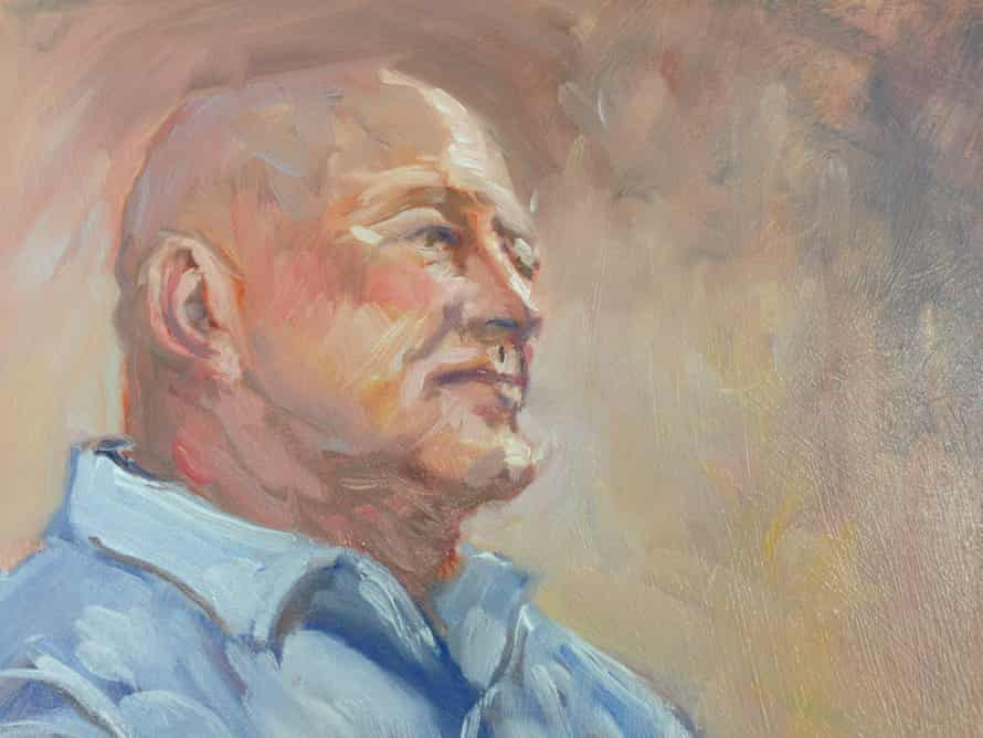 A painting of Terry Aston.