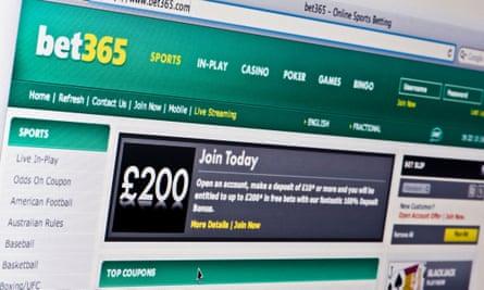 Bet365 website.