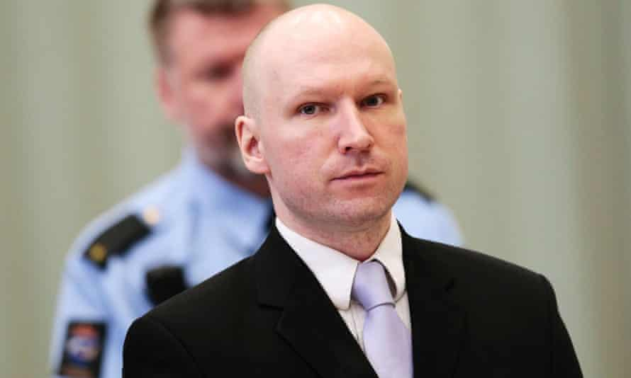 Anders Breivik during the court case last year.