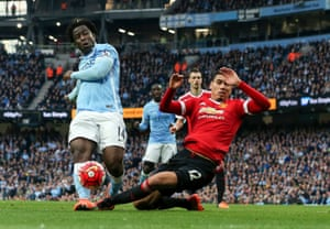 Bony shoots, but Smalling does enough to send it wide.