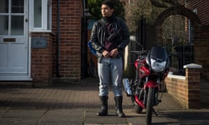 BBC Three's Killed By My Debt tells the devastating story of Jerome Rogers, here played by Chance Perdomo, and how his bike, and therefore his livelihood, were seized.