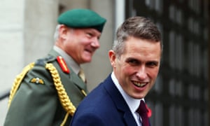Gavin Williamson arrives at the MoD after being announced as the new defence secretary.