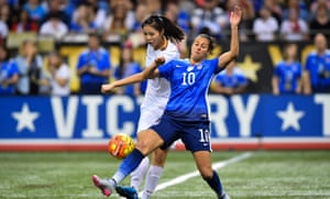 Carli Lloyd battles in New Orleans. China ended USA's 10-year unbeaten home record.