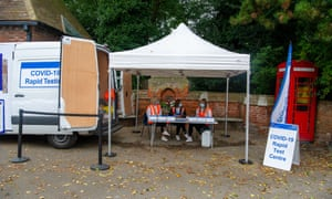 Mobile rapid resting centre in Wendover, Buckinghamshire.