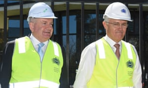 Mitch Fifield and Malcolm Turnbull