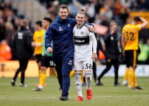 Fulham's Harvey Elliot, the youngest-ever Premier League footballer, aged 16 years and 30 days, walks off after his debut. He had hardly worked up a sweat, having entered the fray in the 88th minute. Wolves were 1-0 winners.