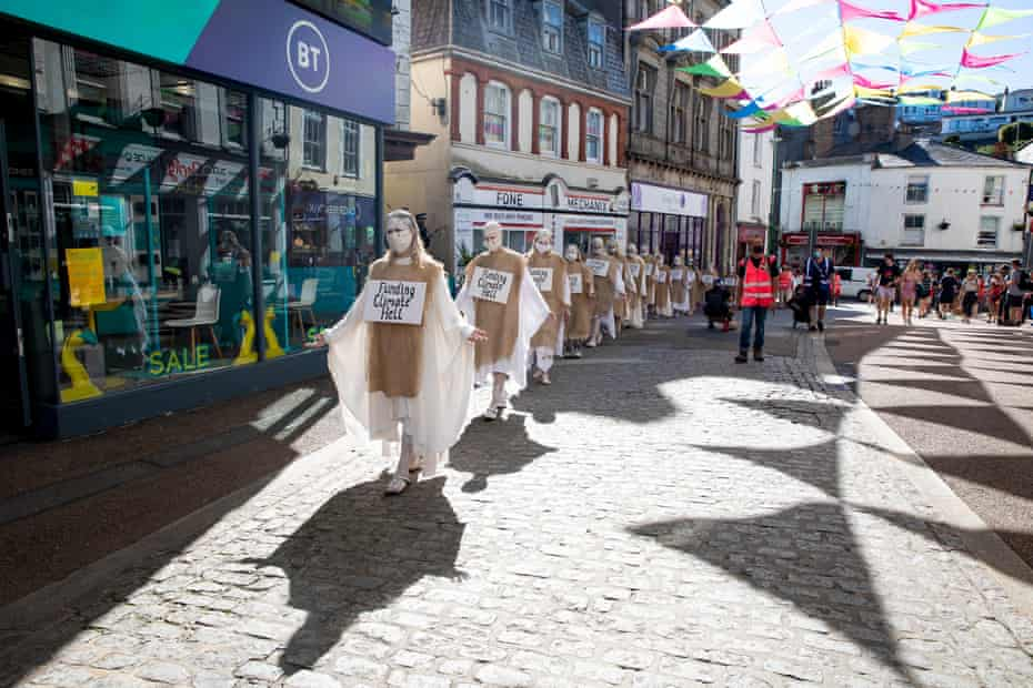 'Penitents' at the Extinction Rebellion event in Falmouth