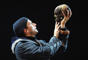 David Tennant in the title role in the RSC's Hamlet