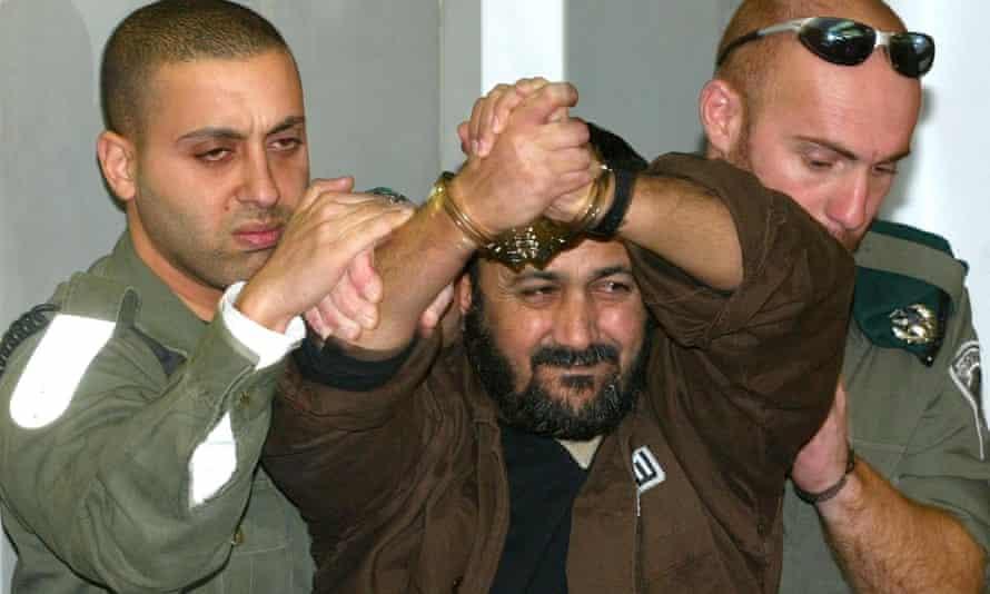 Marwan Barghouti in court in Tel Aviv, Israel, in 2003