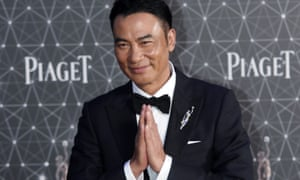 Simon Yam attends the Hong Kong film awards in April 2016