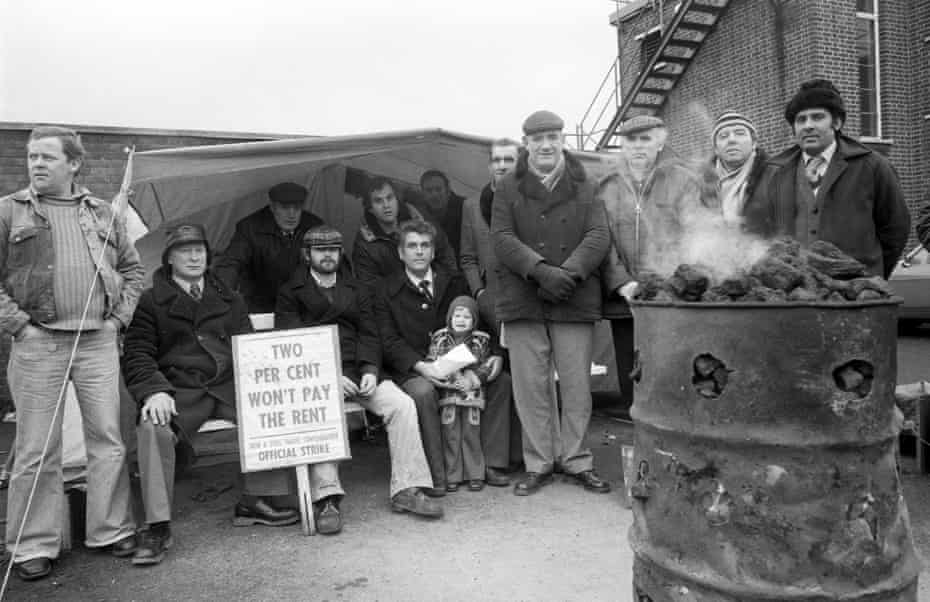Bilston Steel workers striking for better wages in January 1980.