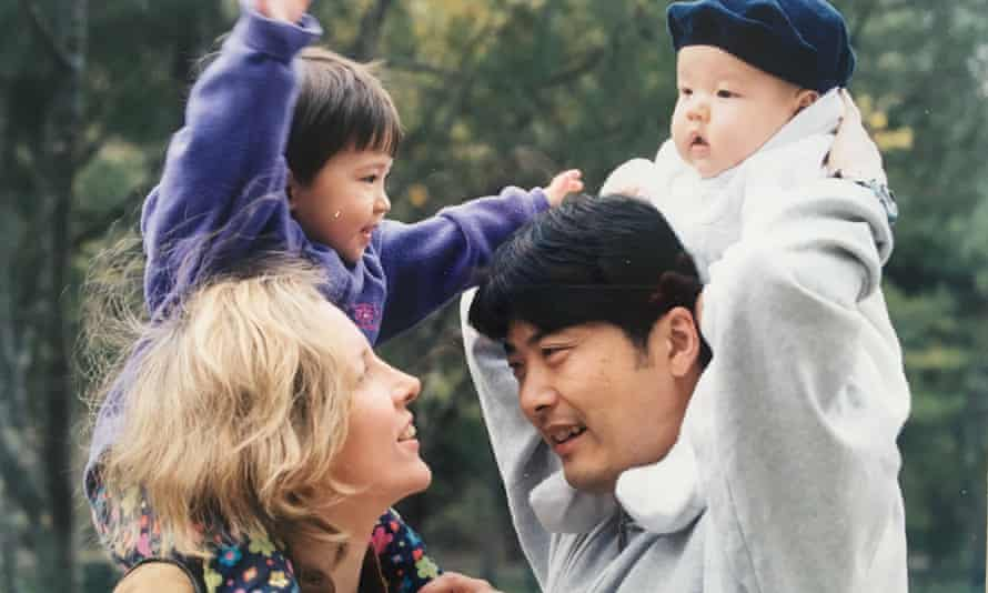 Carrie Gracie and family in China