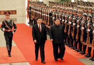 Xi Jinping and Kim Jong-un in Beijing this week.