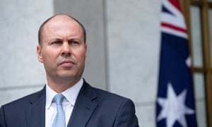 Treasurer Josh Frydenberg at a press conference in the PM's courtyard of Parliament House in Canberra on Thursday.