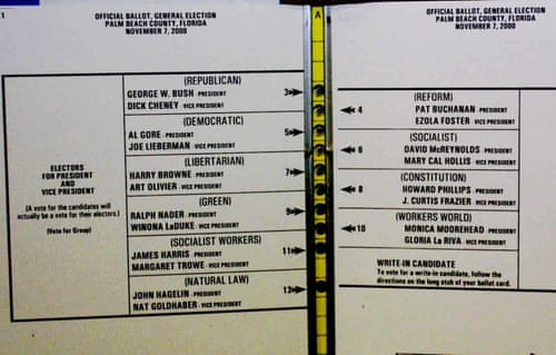 How Bad Ballot Design Can Sway The Result Of An Election Us News The Guardian