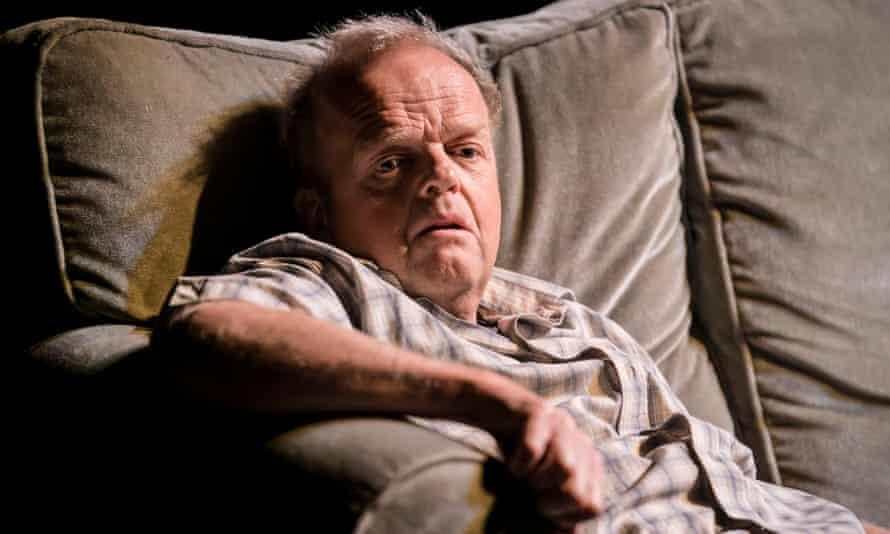 Sofa, so claustrophobic … Toby Jones in Caryl Churchill's Imp.