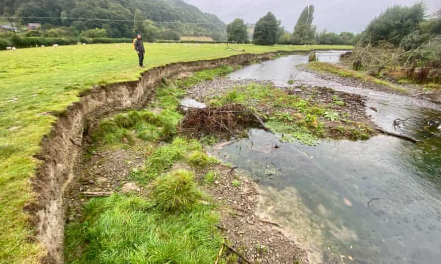 Natural erosion on Offa's Dyke Path