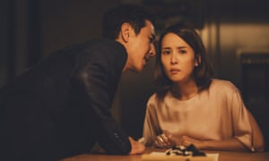 Sun-kyun Leeand Yeo-jeong Jo in Parasite.