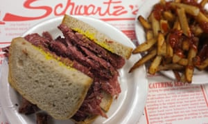 Montreal's speciality: the smoked meat sandwich