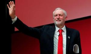 Jeremy Corbyn: 'Waving graciously like a monarch from a carriage window.'