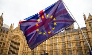 EU/UK flags Westminster