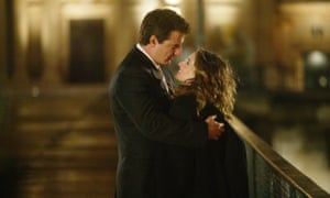 Sarah Jessica Parker as Carrie and Chris Noth as Mr Big in Sex and the City