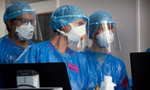 Critical care practitioners at the Western general hospital, Edinburgh, Scotland.
