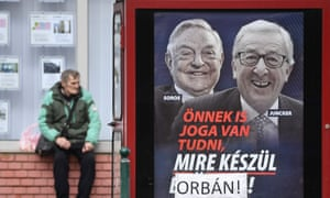 Brussels accused Budapest of peddling a 'ludicrous conspiracy theory' with its Jean-Claude Juncker poster