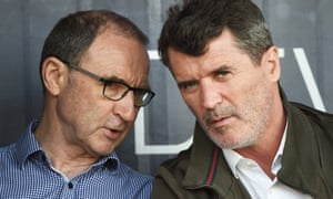 Roy Keane, right, with Martin O'Neill during their time together with Republic of Ireland.