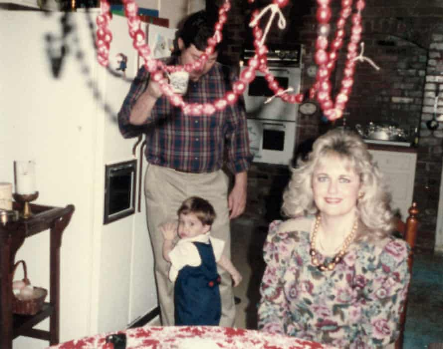 Home truths: Garrard Conley with his mother and father in the late 80s.