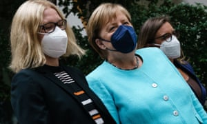 German Chancellor Angela Merkel arrives for her annual press conference in Berlin today.