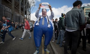 A caricature of Newcastle United's owner, Mike Ashley