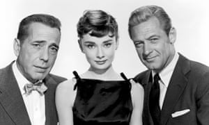 Humphrey Bogart, Audrey Hepburn and William Holden in Sabrina